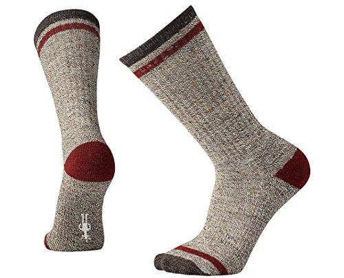 Smartwool Men's Larimer Crew Socks (Chestnut) Medium (Smartwool Crew Long Underwear)
