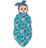 habibee Newborn Swaddle Blanket Headband With Bow
