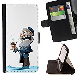 - Queen Pattern FOR Sony Xperia Z3 D6603 /La identificaci????n del cr????dito ranuras para tarjetas tir????n de la caja Cartera de cuero cubie - captain old man winter cartoon kid