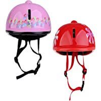 SM SunniMix 2Pcs Kids/Toddlers Horse Riding Helmet Adjustable for Youth Equestrian Riders