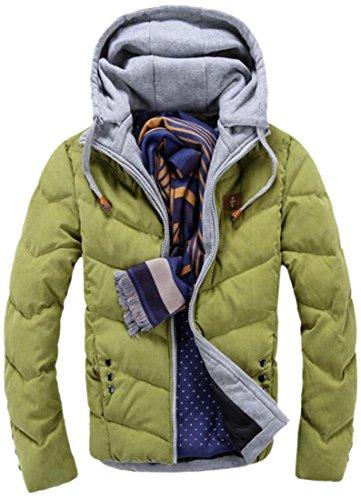 Long Down Thick Sleeve EKU Drawstring Green M Mens Parka Coat Hooded tBq7X