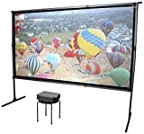 Elite Screens Yardmaster 2 DUAL Projector Screen, 120-INCH 16:9,  Front and Rear Wraith Veil Dual 4K / 8K Ultra HD, Active 3D, HDR Ready Indoor and Outdoor Projection Screen, OMS120H2-Dual