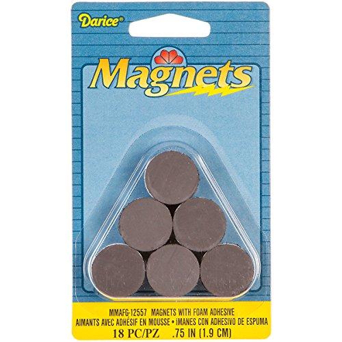 Darice MMAFG 12557 18 Piece Magnet Adhesive