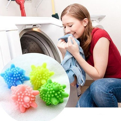 M$M shop Reusable Washing Machine Cleaning Remove Stains Clothes Wash Laundry Ball Sanitary : Random Color