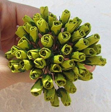 Amazoncom Studio One Mini Green Rose Bud 6x12mm Mulberry Paper