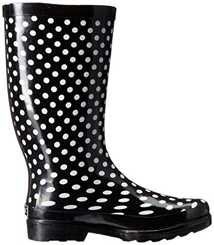 Sugar Womens Raffle-Stock Rain Shoe Black/White Dot 1tRTiNz0bS