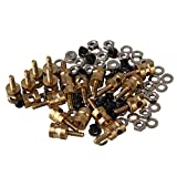 BQLZR 2mm Durable Metal RC Model Stopper Servo Connectors with Screws Nuts and Gasket for Airplane Pack of 20