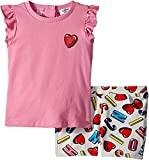 Moschino Kids Baby Girl's Logo Heart Graphic T-Shirt & Shorts Set (Infant/Toddler) Multi 12-18