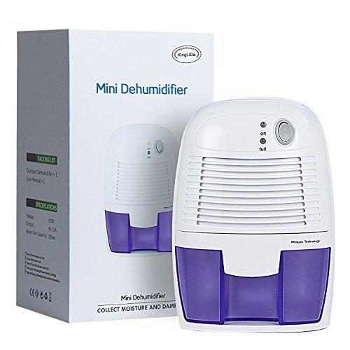Home Mini Dehumidifier Moisture Absorber/Air Dehumidifier with 500ML Water Tank Air Dryer for Basements, Bedroom, Bathroom, Wardrobe, Kitchen, Office
