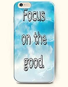 OOFIT Apple iPhone 6 (4.7 inches) Case - Life Inspirational Quotes Focus On The Good / Blue Water