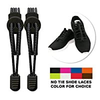 Hilelife Cool Elastic No Tie Shoelaces, Never Tie Quick Stretch Replacement Shoe Laces Sneakers Reflective String With Locks For Kids and Adults - Running, Hiking & Other Sports