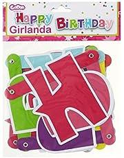 Girlanda Happy Birthday rózowa 1,8 m