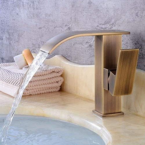 ZJN-JN 蛇口 洗面所現代の滝温水と冷水セラミック単穴シングルレバー洗面化粧台のシンクの蛇口のための洗面シンクミキサータップ 台付
