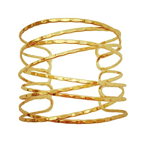 - OCTCHOCO Simple Gold Swirl Arm Cuff Fashion Armlet Armband Bangle Bracelet 2.8