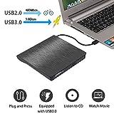 External CD/DVD Drive for Laptop, USB 3.0 Portable