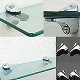 Ciamlir 2pcs Adjustable Metal Shelf Holder Bracket Support for Glass or Wood Shelves