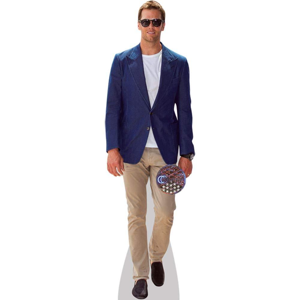 Tom Brady (Blue Jacket) Life Size Cutout by Celebrity Cutouts