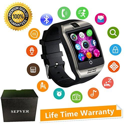 Reloj Inteligente Mujer Hombre Smartwatch Pulsera de Actividad Inteligente con Pantalla Táctil Ranura para Tarjeta SIM Cámara para iPhone Samsung ...