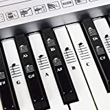 Piano and Keyboard Music Note Full Set Stickers for White and Black Keys with Piano Songs EBook; Transparent and…