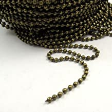 Graceangie 20meters 66ft Vintage Bronze Ball Chain 2x2mm for Jewelry Making DIY Necklace