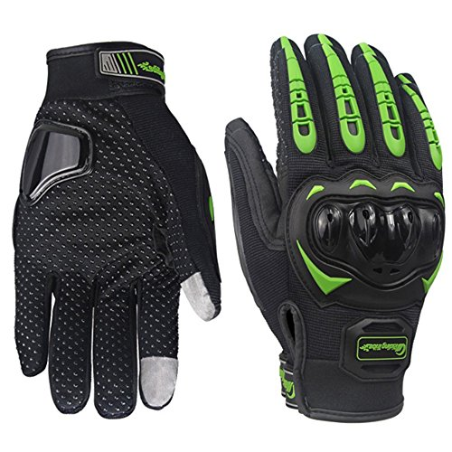 Sourcingbay Bicycling Gloves Sport Touchscreen Gloves Outdoor Full Finger Bike Gloves Warm Enough Motorcycle Gloves Riding Gloves Men Women(XL Size, Green in Black)