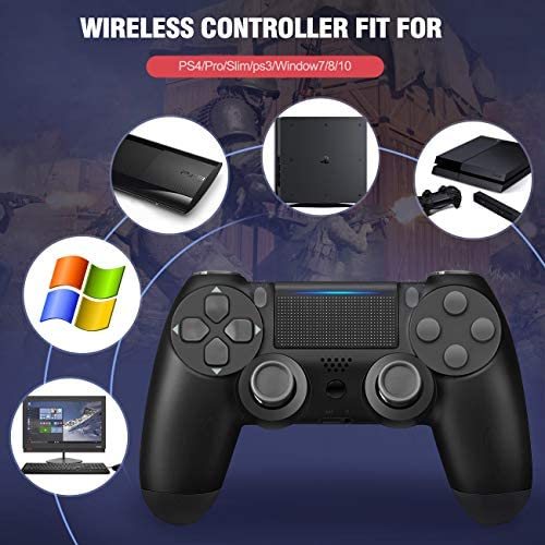 Controller Wireless for PS4, Usergaing TwinShock 4 Wireless Controller for Sony Playstation 4/Pro/Slim/PC with Audio Function, Speaker and Dualshock