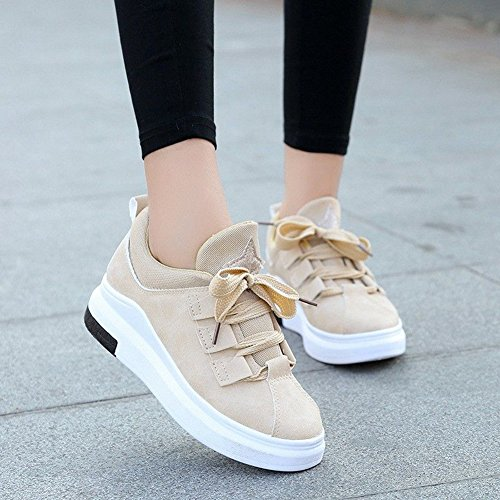 Snbling Womens Fashion Casual Sneakers Flat Outdoor Walking Sports Shoes Giallo
