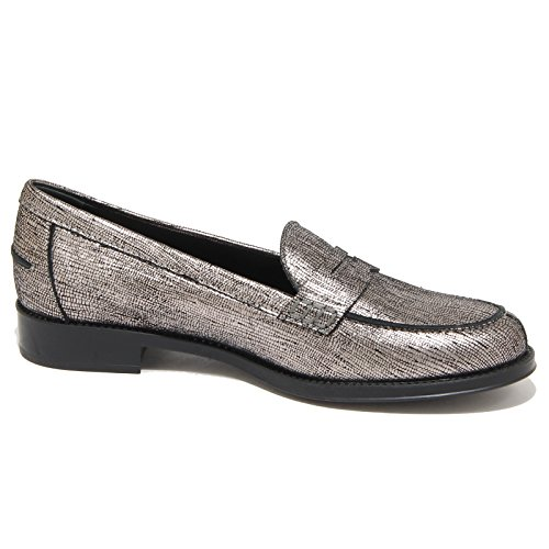 grigio TOD'S GOMMA scarpe Argento donna argento 9190N loafer women mocassino Grigio RU qFIx5nOw
