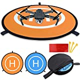 #10: Drone Landing Pad, KINBON Waterproof 30'' Universal Landing Pads Fast-fold Double Sided Quadcopter Landing Pads for RC Drones Helicopter DJI Spark Mavic Pro Phantom 2/3/4 Pro Inspire 2/1 3DR Solo