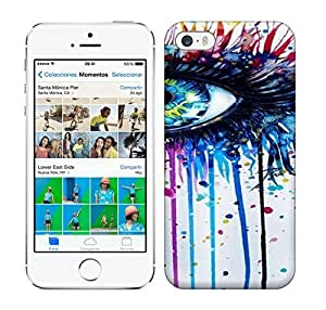 Best Power(Tm) HD Colorful Painted Watercolor Stunning Splashy Watercolor Painting Of A Beautiful Eye By German Artist Svenja Jodicke Hard Phone Case For Iphone 5/5S