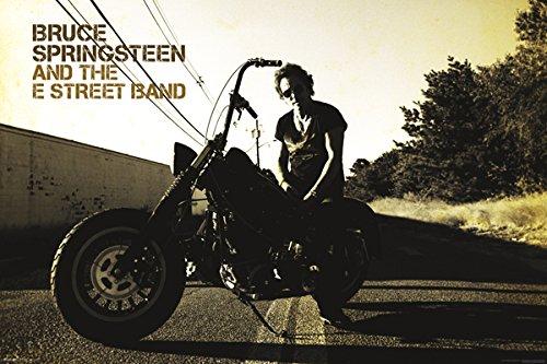 Bruce Springsteen Motorcycle Poster - Sunglasses Bruce Springsteen