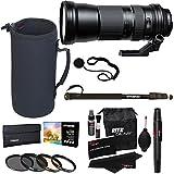 "Tamron AFA011N700 SP 150-600mm F/5-6.3 Di VC USD Zoom Lens for Nikon Cameras + Polaroid 95mm Filter Set + 72"" Professional Monopod + Ritz Gear Cleaning Kit + Pouch + Lens Cap Strap Accessory Bundle"