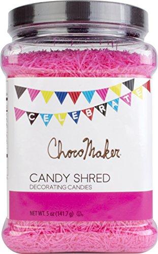 ChocoMaker Pink Candy Shred Sprinkles Bulk Jar ()