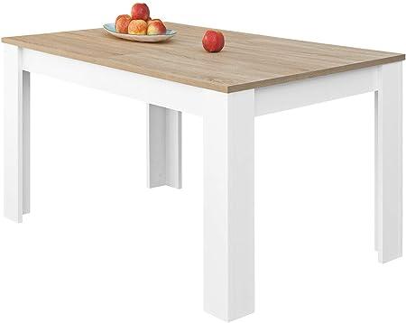 ESTILO: Mesa de Melamina con patas robustas de diseño único y minimalista. Este mueble de comedor se