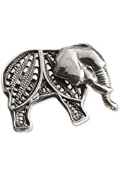 NOVICA .925 Sterling Silver Brooch 'Young Elephant'