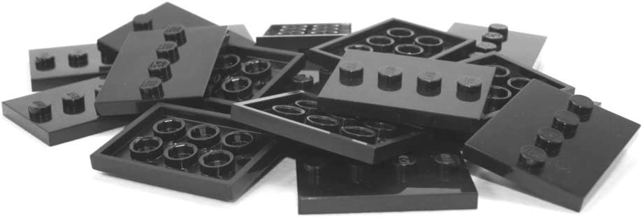 10x LEGO Black Base Plate For Minifigure Flat 3x4 Tile 4 Studs New Stand