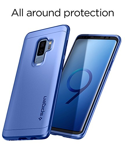 online store 60927 db6b0 Spigen [Thin Fit 360] Galaxy S9 Plus Case Cover with Full Body Protection  with Tempered Glass Screen Protector for Samsung Galaxy S9 Plus (2018) ...