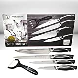 Imperial Collection IM-ABS4 Stainless Steel Classic 5-Piece Chef Knife Set with Ceramic Peeler, Black Review