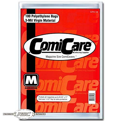 (ComiCare Magazine Size Comic Book Polyethylene Bags 8-3/4