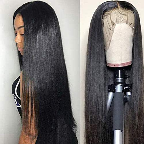 Subella Hair 9A Lace Front Wigs Human Hair with Baby Hair 150% Density Brazilian Straight Human Hair Wigs for Black Women Natural Color (20inch)