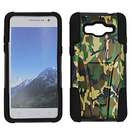 free shipping 326ce 629db Galaxy Grand Prime Kickstand Case, Hybrid 2 Layer Shock Proof Rugged Heavy  Duty Armor Kickstand Hard Case by URAKKI - Samsung Galaxy Grand Prime G530H  ...