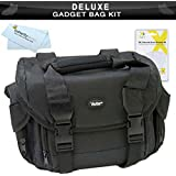 Deluxe Rugged Camera Bag / Case For Sony Alpha NEX-5, NEX-5N, NEX-C3, NEX-7, DSC-HX100V, DSC-HX200V, DSC-HX7V, DSC-HX9V, NEX-5R, NEX-6, NEX-6L/B, NEX-6/B, NEX6L/B2BDL Digital Camera + More