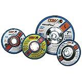 Depressed Center Wheel, 4 1/2 in Dia, 1/8 in Thick, 5/8 in Arbor, Aluminum (14 Pack)