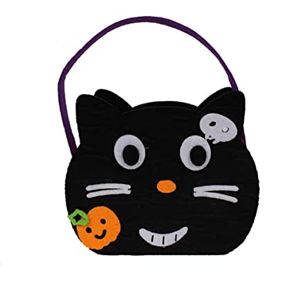 Amazon.com: Hemore Halloween Trick or Treat Bags with Cat ...