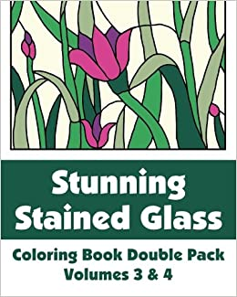 Stunning Stained Glass Coloring Book Double Pack (Volumes 3 & 4) (Art-Filled Fun Coloring Books) Download Pdf
