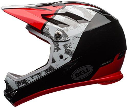 Face Bell Sports White Helmet (Bell Sanction Bike Helmet - White/Black/Red Small)