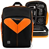 VanGoddy Sparta Titan Orange Camera Backpack Suitable for Canon XA11/XA15/XA10/XA35/XA30/XA20/XC15/XC10/XF400/XF405/XF205/XF200/XF105/XF100/VIXA HF G20, G40, G21, GX10