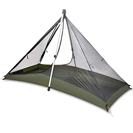 new arrival 432d4 9195e GEERTOP 1 Person 3 Season 20D Ultralight Backpacking Lightweight Tent for  Camping Hiking Climbing (Pole NOT included)