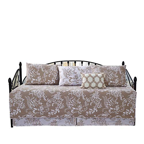 Home Soft Things Serenta La Boheme 6 Piece Quilted Daybed Set, Taupe, 75