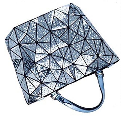 Géométrique Plié Blue à Bandoulière Couture à Main XZWNB Sac Sac Femme Bandoulière Sac à qfBC7Otwx
